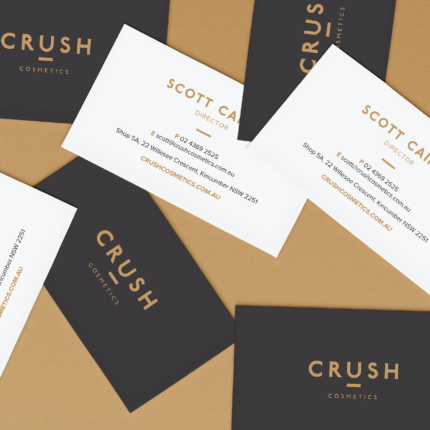 Crush Cosmetics Business Cards - Squeeze Creative
