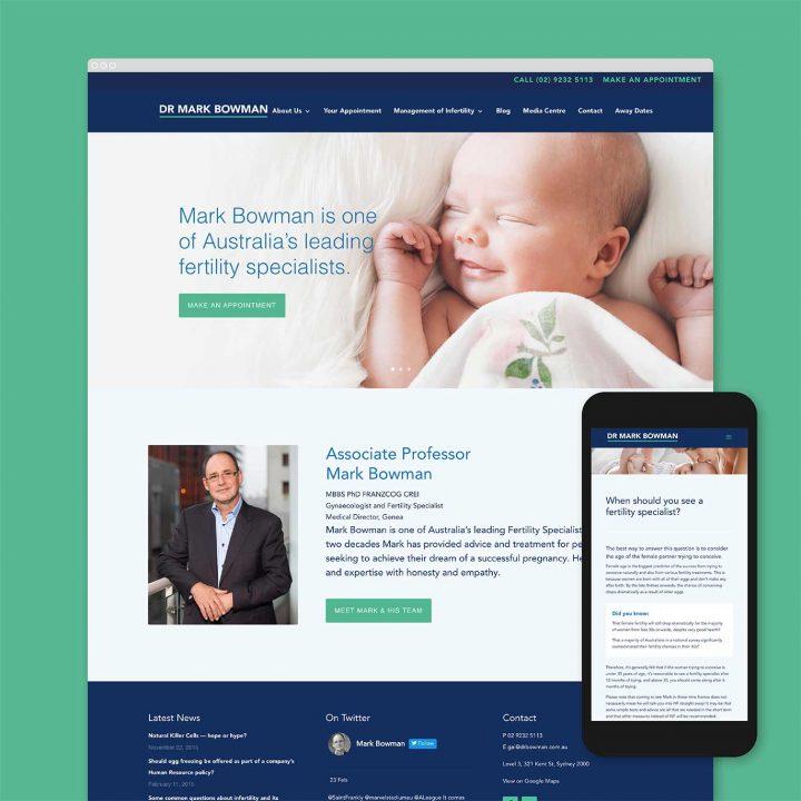 Dr Mark Bowman Mobile Resonsive Medical Website