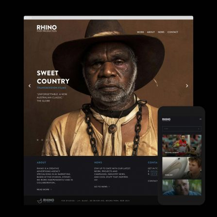 Rhino Post Production Web design