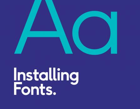 Installing brand fonts
